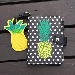 UNDER ONE SKY Pineapple Foldover Wallet